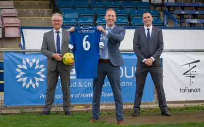 ClevaGroup Agree Hertford Town FC Sponsorship Deal